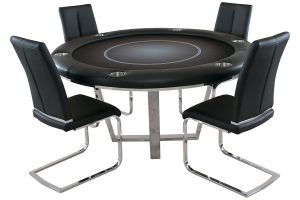 Manetho Round Poker Table with Chairs
