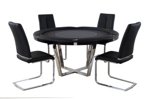 Manetho Round Poker Flip Top Table with Chairs