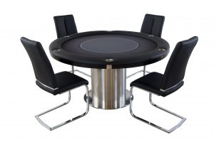 Nile Round Poker Flip Top Table with Chairs