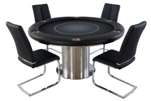 Nile Round Poker Table with Chairs