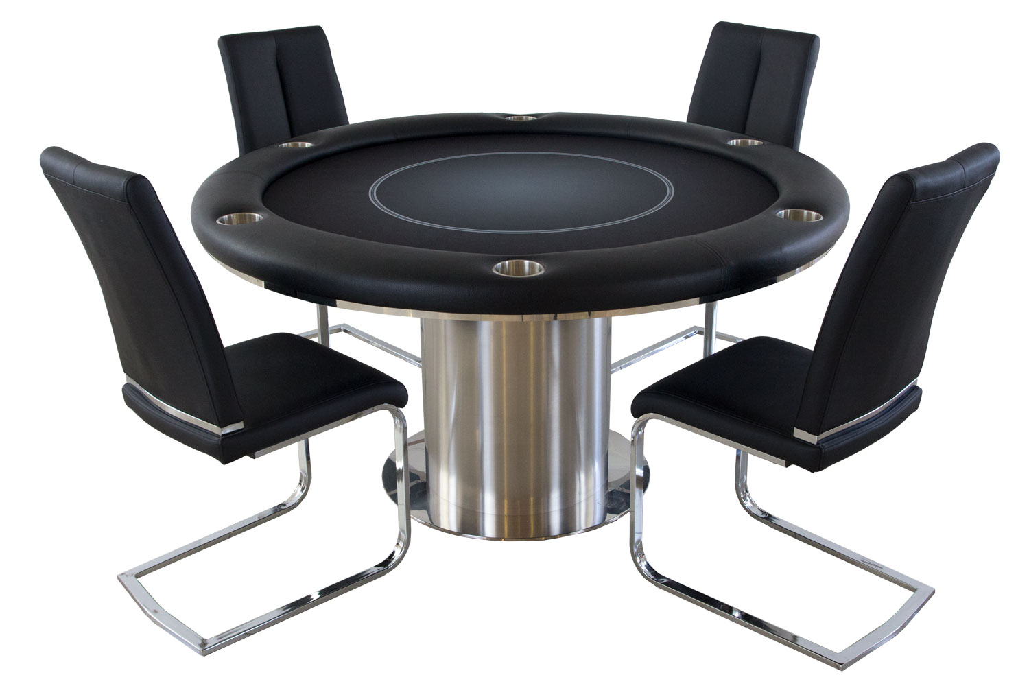 Nile Round Poker Table With 4 Matching Chairs