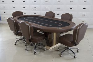 Anubis Texas Holdem Poker Table with Matching Chairs