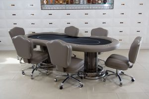 Nile Texas Holdem Poker Table with Matching Chairs